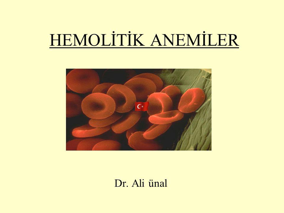 Serum LDH yüksek Serum haptoglobin düzeyleri azalmış Hemosiderinüri (+) Hbüri genellikle geceleri olur ve sabah idrar rengi koyulaşır.
