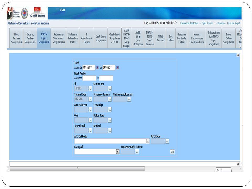  Stok; herhangi bir ü r ü n ü n veya malzemenin gelecekteki olası kullanımı i ç in hastanede bulundurulmasıdır.