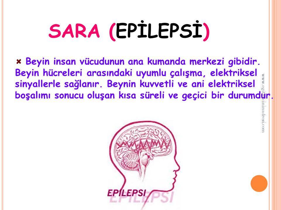 SARA (EPİLEPSİ) Beyin insan vücudunun ana kumanda merkezi gibidir.