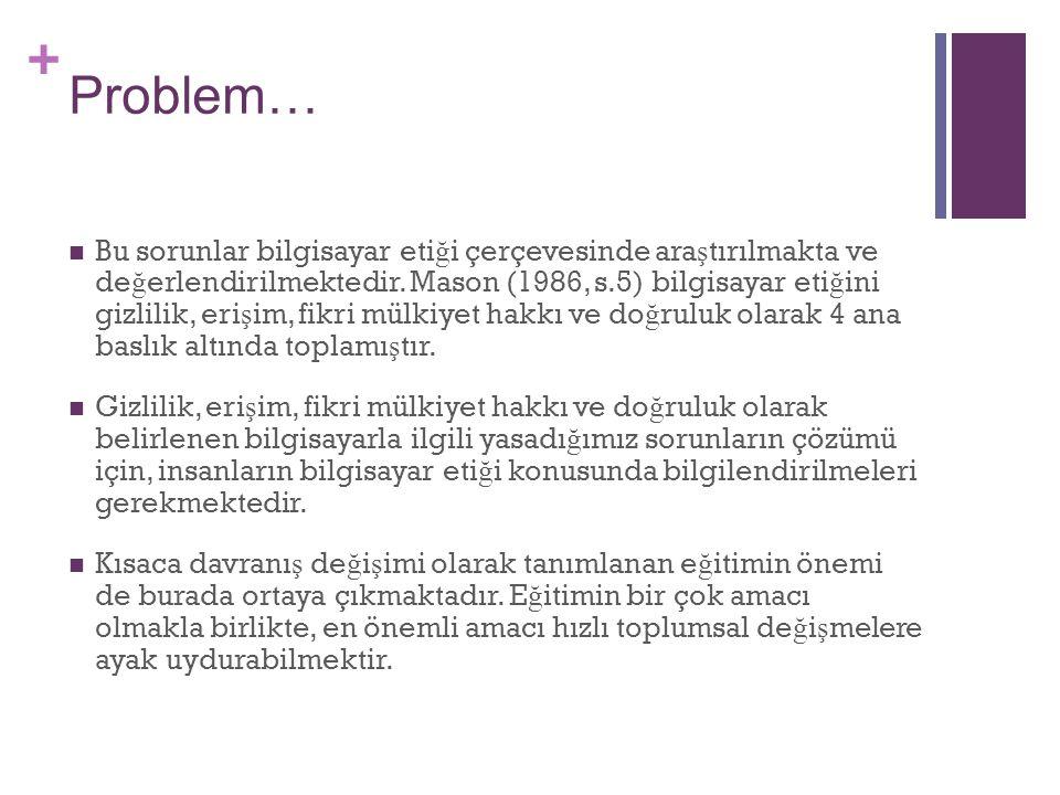 + Problem… E ğ itimde ö ğ retici ve ö ğ renen olgusu belki de hiç de ğ ismeyecek kavramlardır.