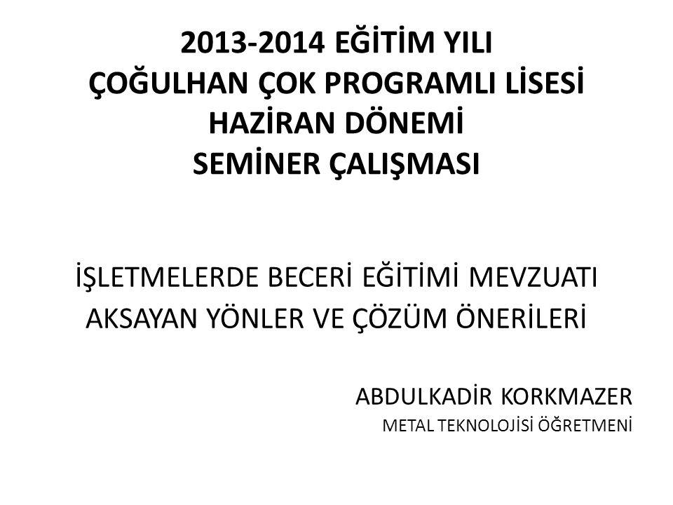 SEKİZİNCİ KISIM Okulda ve İşletmelerde Mesleki Eğitim DÖRDÜNCÜ BÖLÜM İşletmelerin Bildirilmesi, İşletme Belirleme Komisyonlarının Kuruluş ve Görevleri ile Sözleşme İşletme belirleme komisyonlarının kuruluşu MADDE 140- c) Türkiye İş Kurumu temsilcisi, ç) Sağlık sektöründe, (b) ve (c) bentlerinde sayılanlar yerine il sağlık müdürlüğünün eğitimden sorumlu müdür yardımcısı veya şube müdürüyle il sağlık müdürlüğünce belirlenecek sağlık işletmelerinden birer temsilciden oluşur..
