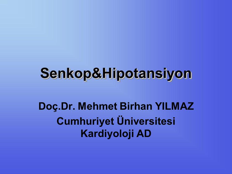 Presenkop ve senkopa neden olabilecek en sık görülen aritmiler sinoatrial hastalık, AV blok, supraventriküler taşikardi, ventriküler taşikardi / fibrilasyondur.