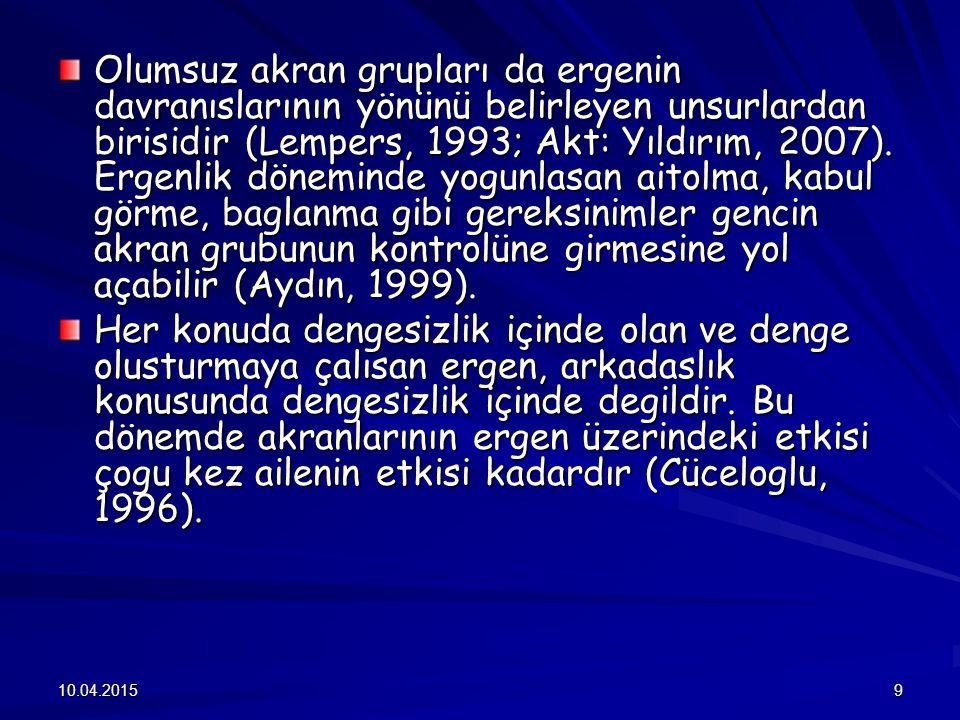YIKICI DAVRANIŞ BOZUKLUKLARI GÖSTEREN PSİKOPATOLOJİLER 1.