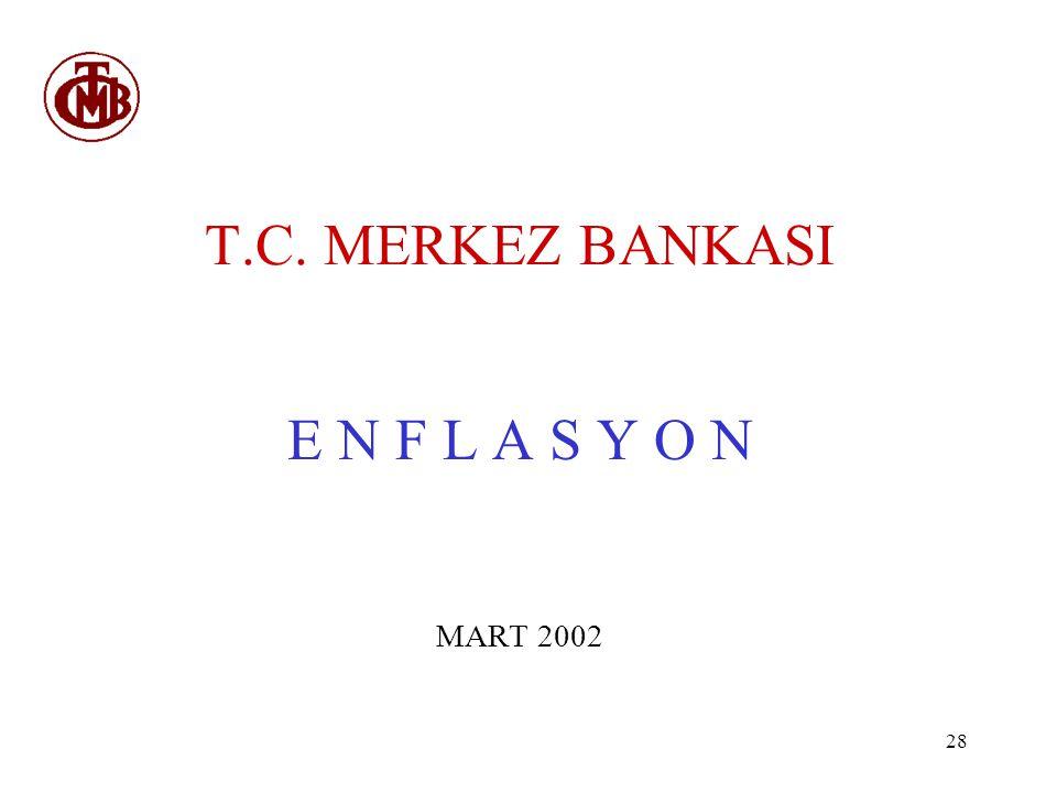 28 T.C. MERKEZ BANKASI E N F L A S Y O N MART 2002