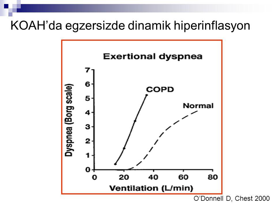 KOAH'da egzersizde dinamik hiperinflasyon O'Donnell D, Chest 2000