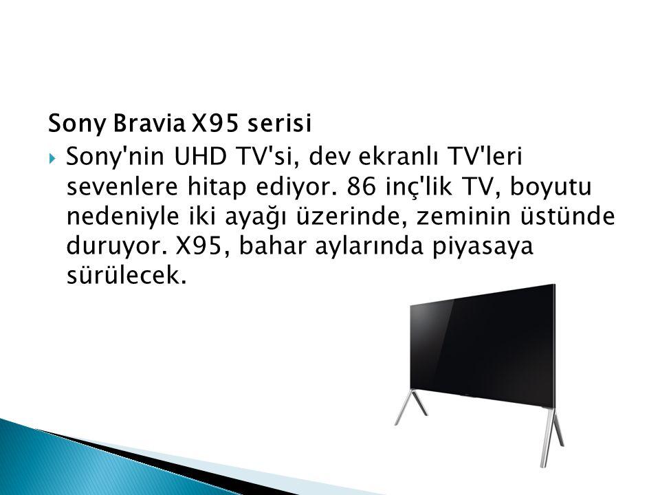 Sony Bravia X95 serisi  Sony'nin UHD TV'si, dev ekranlı TV'leri sevenlere hitap ediyor. 86 inç'lik TV, boyutu nedeniyle iki ayağı üzerinde, zeminin ü