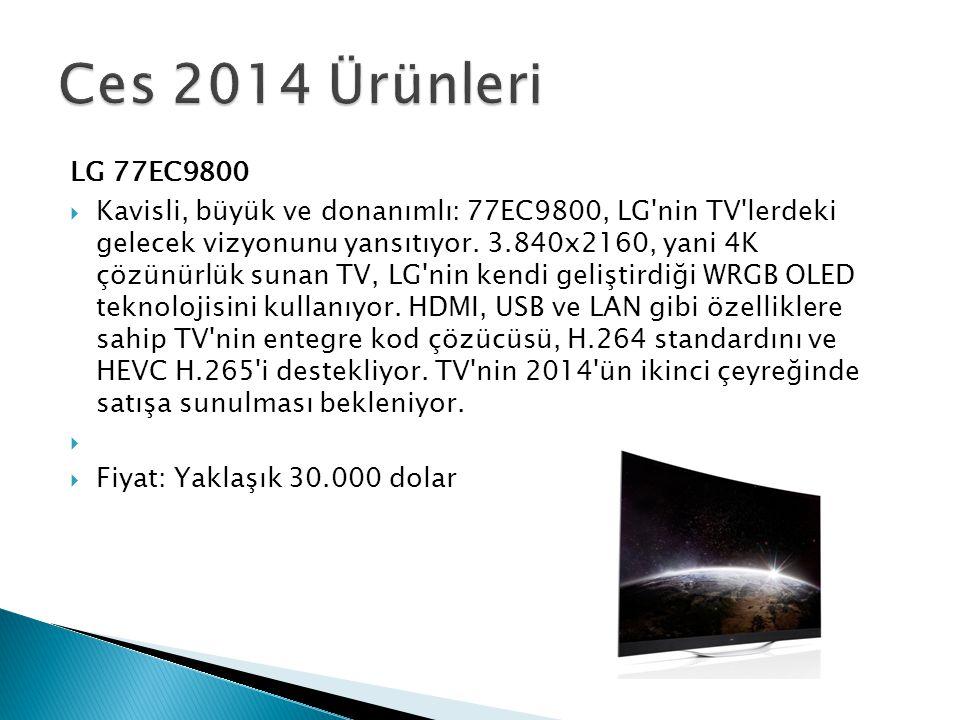 LG 77EC9800  Kavisli, büyük ve donanımlı: 77EC9800, LG'nin TV'lerdeki gelecek vizyonunu yansıtıyor. 3.840x2160, yani 4K çözünürlük sunan TV, LG'nin k