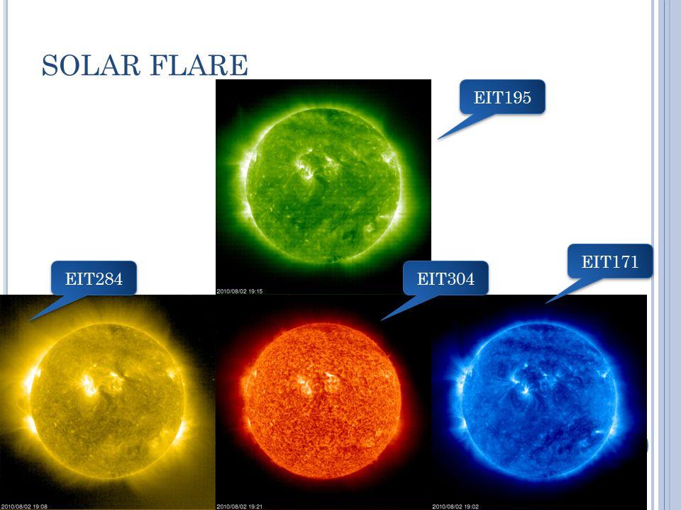 SOLAR FLARE EIT284 EIT304 EIT171 EIT195