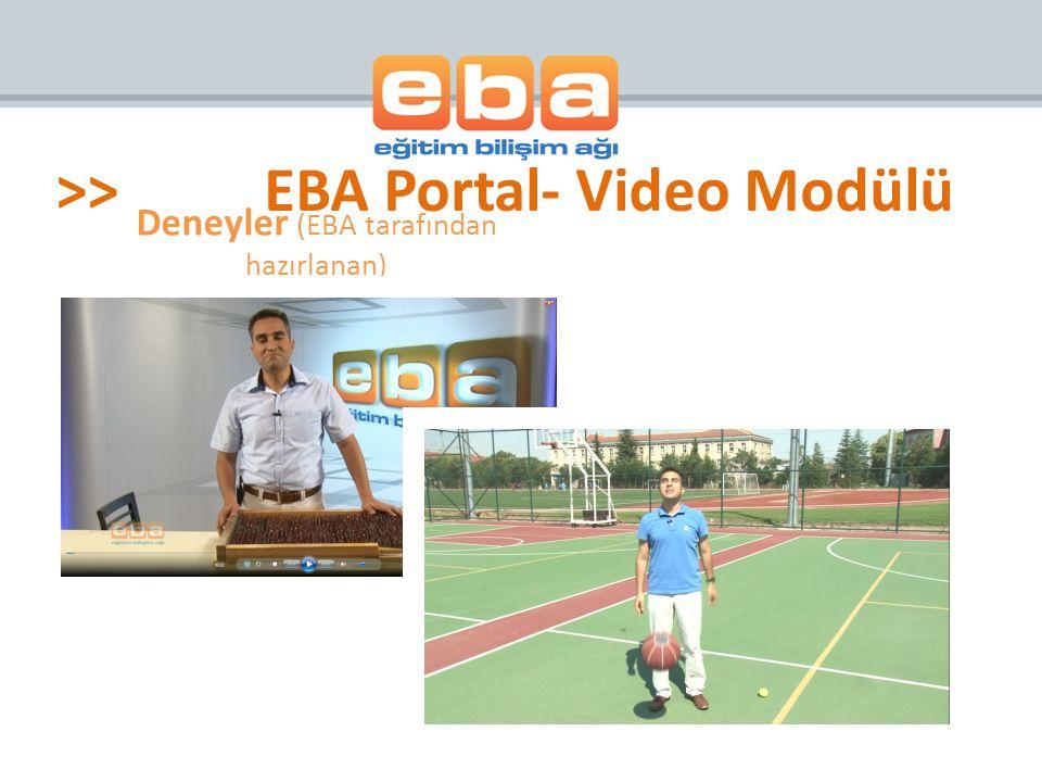 Deneyler (EBA tarafından hazırlanan) >>EBA Portal- Video Modülü