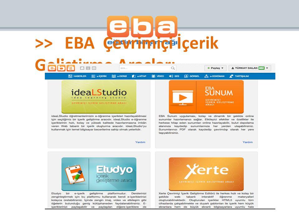 >>EBA Çevrimiçi İçerik Geliştirme Araçları