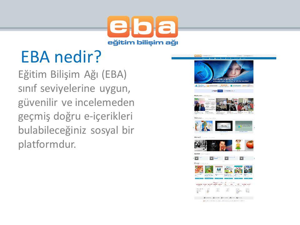 EBA Portal da herhangi bir konuya ve/veya bilgiye dair haber, e-içerik, e- dergi, e-kitap, video, ses, görsel ve herhangi bir konu ile ilgili verilen bilgilere ulaşabilmek için Arama Modülü geliştirilmiştir.