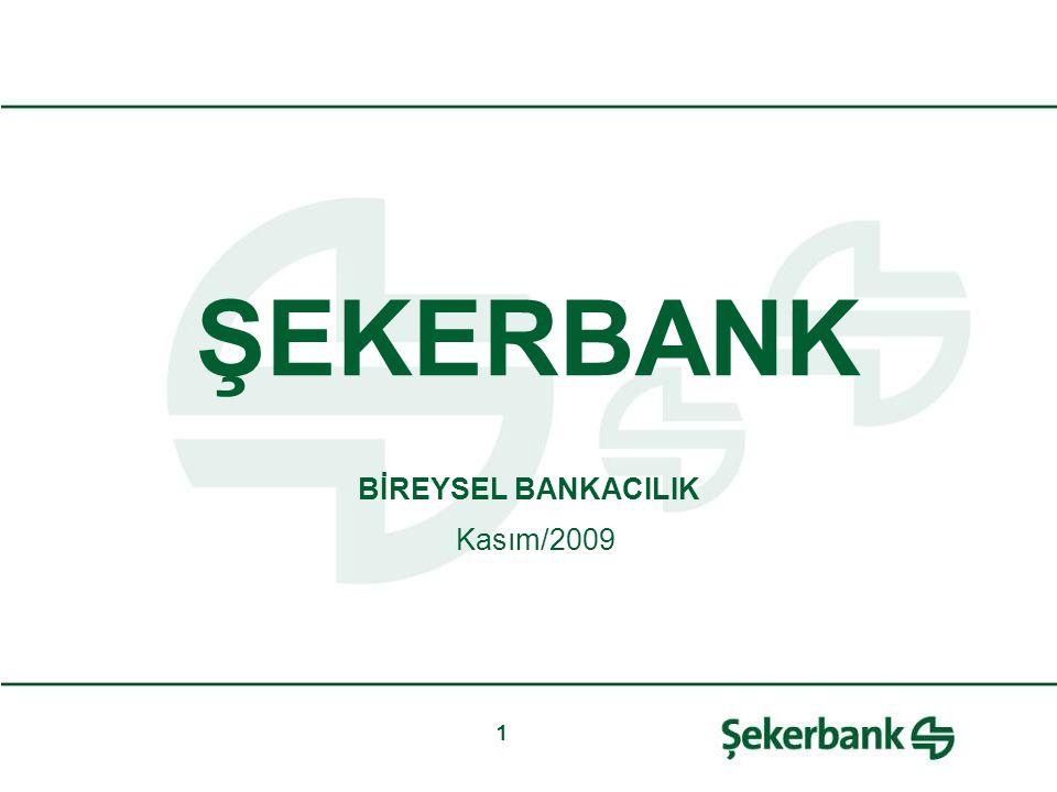 1 ŞEKERBANK BİREYSEL BANKACILIK Kasım/2009