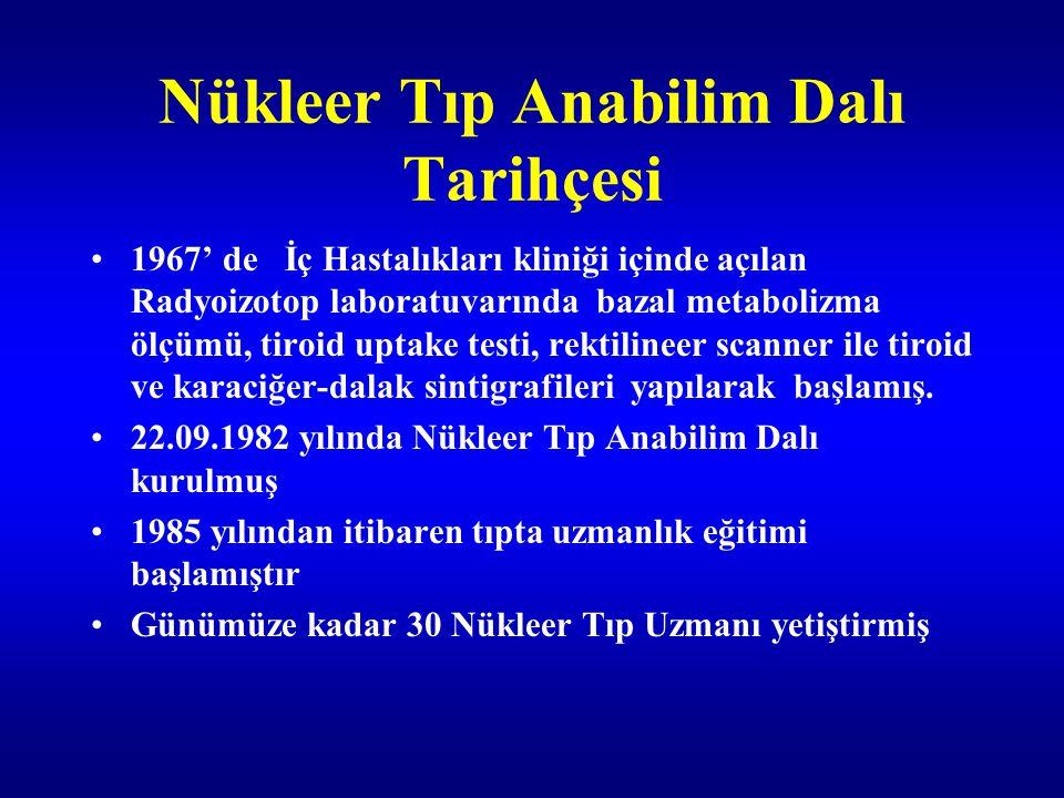 Temsiliyet Yurt içi Yöneticiler : Türkiye Nükleer Tıp Derneği başkanlığı :Prof.Dr.Sema Cantez Nükleer Tıp Derneği Yönetim kurulu üyeliği.: Doç:Dr.
