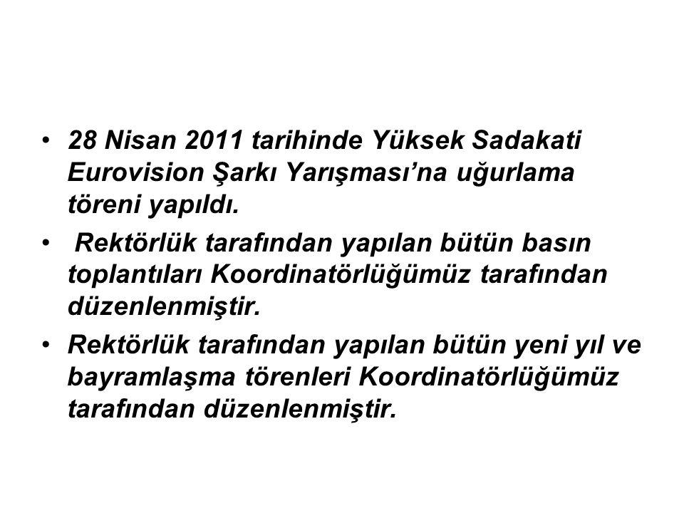 28 Nisan 2011 tarihinde Yüksek Sadakati Eurovision Şarkı Yarışması'na uğurlama töreni yapıldı.