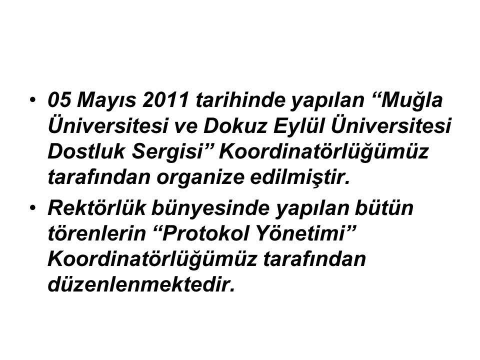 05 Mayıs 2011 tarihinde yapılan Muğla Üniversitesi ve Dokuz Eylül Üniversitesi Dostluk Sergisi Koordinatörlüğümüz tarafından organize edilmiştir.