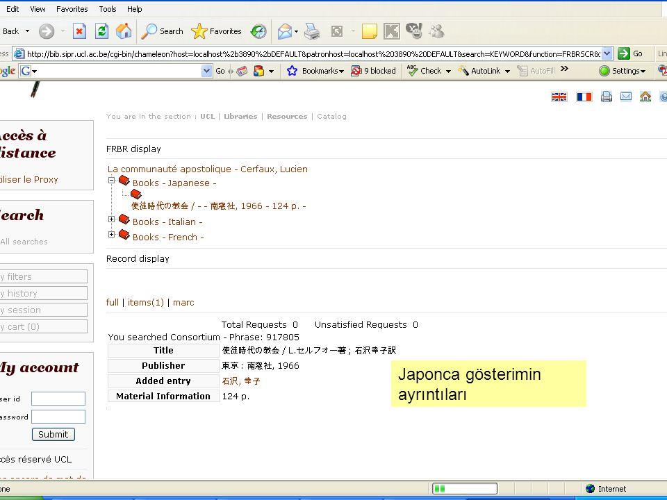 Japonca gösterimin ayrıntıları