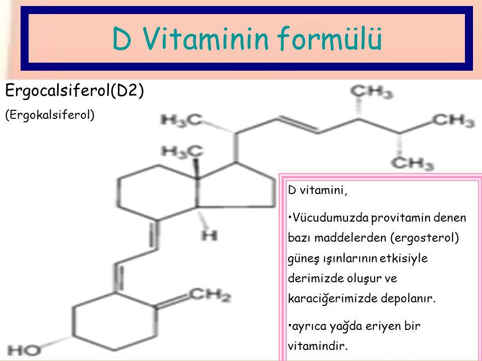 En çok da güneşten D Vitamini alırız.