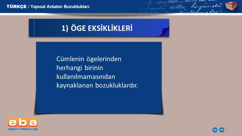 TÜRKÇE / Yapısal Anlatım Bozuklukları 14 Cümlenin öznesi birden fazla kişiden oluşuyorsa yüklemin aldığı kişi eki aşağıdaki kurallara göre kullanılmalıdır.