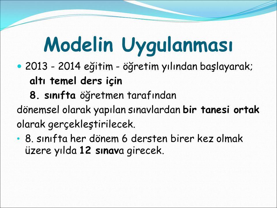 Sınavlar hangi derslerden yapılacak.Fen ve Teknoloji, Matematik, Türkçe T.C.