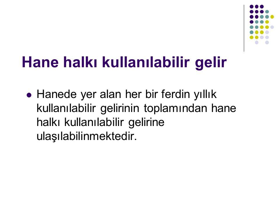 CİNSİYETE GÖRE GELİR DAĞILIMI: 1994 yılında Türkiye'de gelir getiren fertlerin yaklaşık olarak %36'sı kadın; %64'ü ise erkektir.