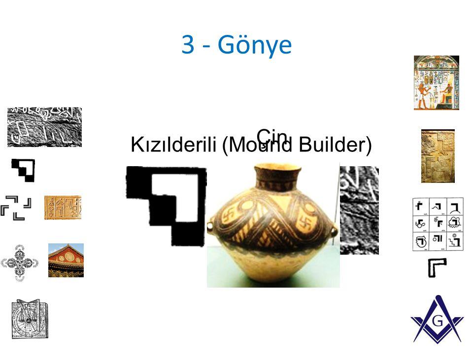 3 - Gönye Kızılderili (Mound Builder) Çin