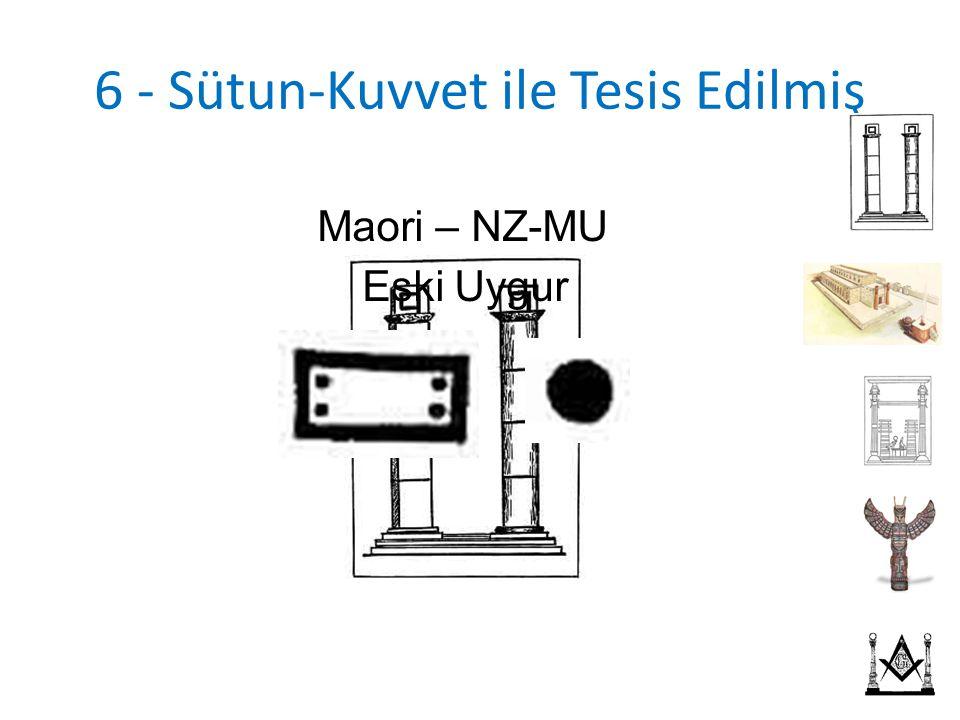 6 - Sütun-Kuvvet ile Tesis Edilmiş Maori – NZ-MU Eski Uygur