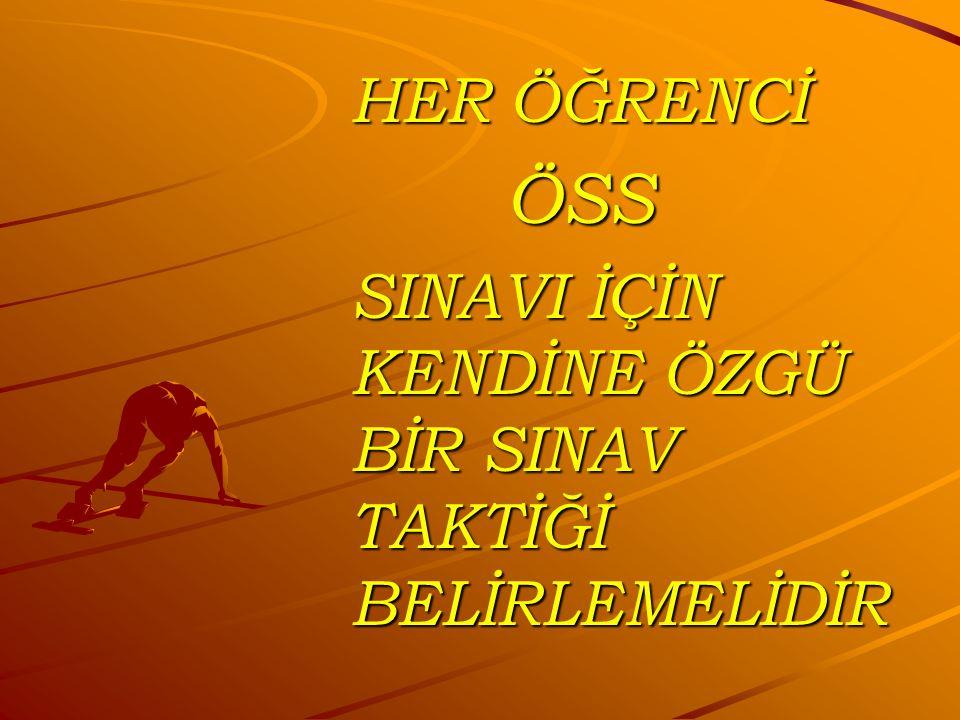 SINAV ÖNCESİ YAPILMASI GEREKENLER SINAV ÖNCESİ YAPILMASI GEREKENLER