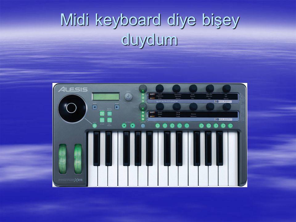 Midi keyboard diye bişey duydum
