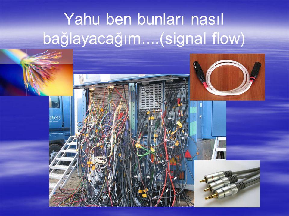 Yahu ben bunları nasıl bağlayacağım....(signal flow)