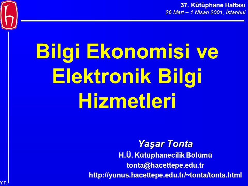 37. Kütüphane Haftası 26 Mart – 1 Nisan 2001, İstanbul Y.T. MyLibrary