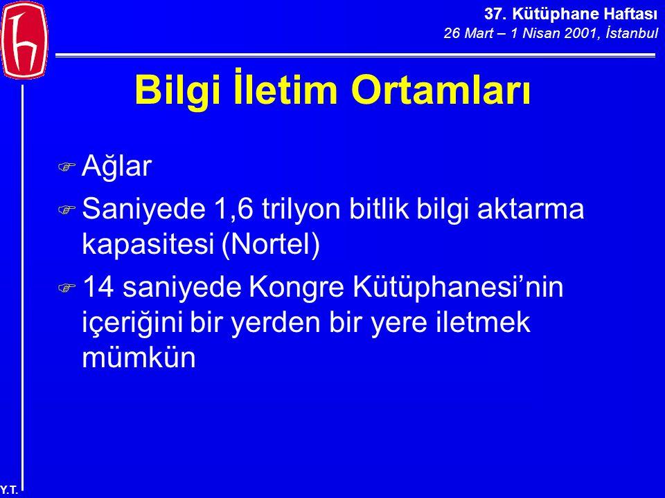 37.Kütüphane Haftası 26 Mart – 1 Nisan 2001, İstanbul Y.T.