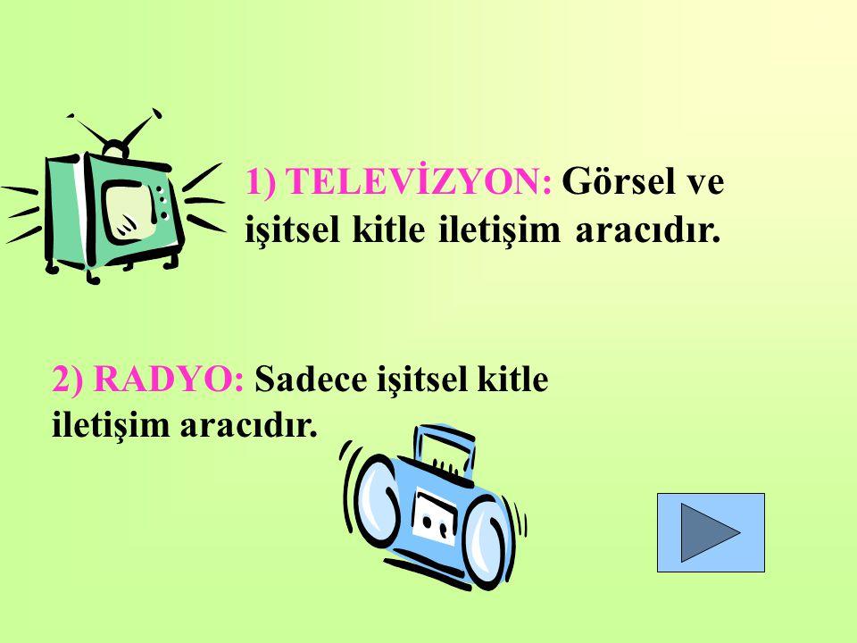 Televizyon Radyo Bilgisayar Gazete ve Dergi