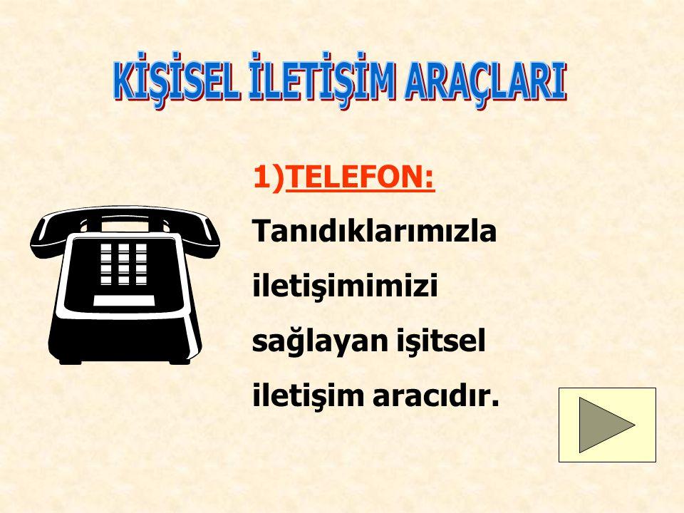 Telefon Mektup Faks