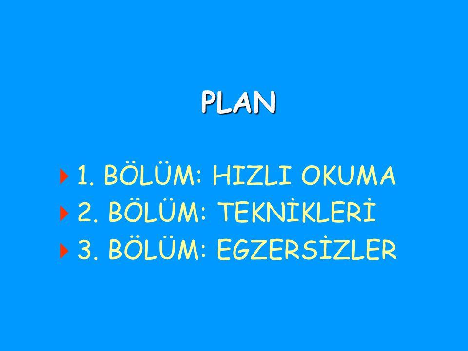 HIZLI OKUMA TEKNİKLERİ Beyoğlu Teknik ve Endüstri Meslek Lisesi