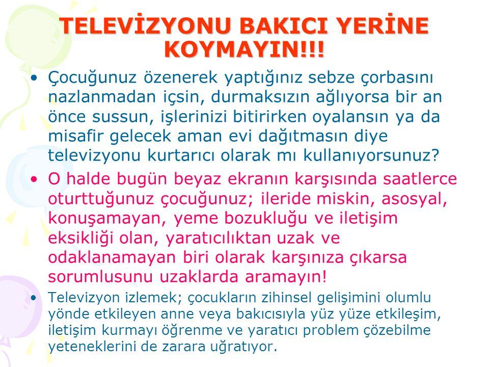 Türkiye'de Okuma ve İzleme Oranları Dergi okuma oranı % 4 Kitap okuma oranı % 4,5 Gazete okuma oranı % 22 Radyo dinleme oranı %25 Televizyon izleme oranı %94 Yapılan araştırmalarla, medya araçlarının çocukların fiziksel, psikolojik, sosyal gelişmelerini olumsuz etkilediği uzmanlar tarafından belirtilmektedir.