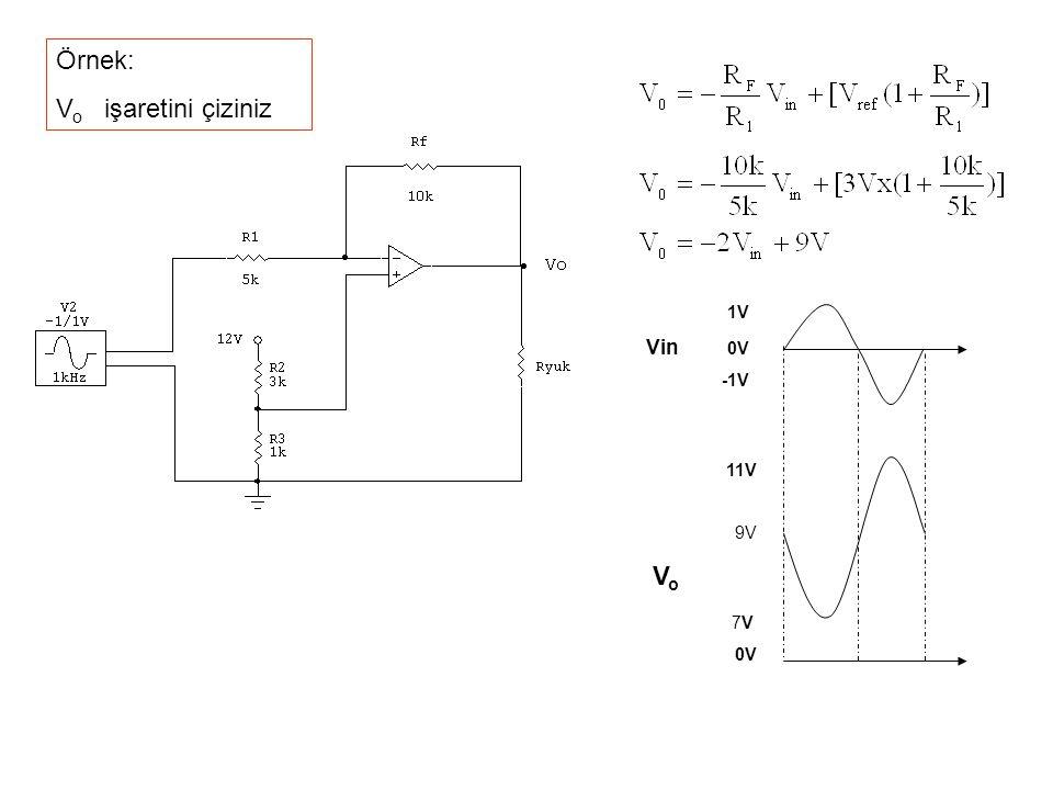 Örnek: V o işaretini çiziniz 1V Vin 0V -1V 11V 9V V o 7V 0V