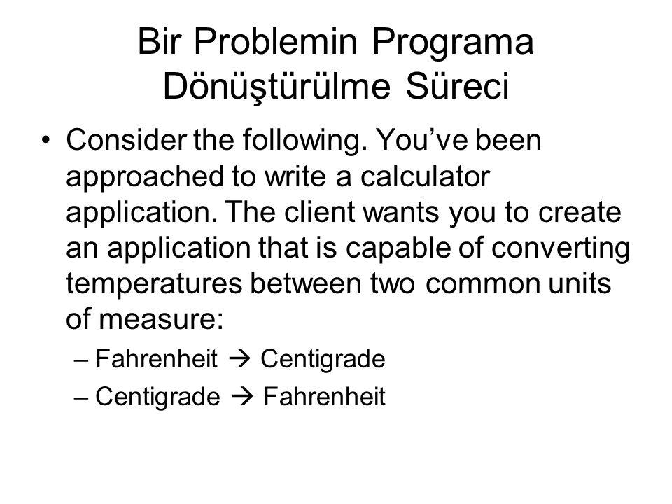 Borland C++ Compiler Bulunması ve Kurulması –http://www.borland.com/downloads/download_cbuilder.htmlhttp://www.borland.com/downloads/download_cbuilder.html –Ayrıca dersin Web alanında mevcut –The current version is version 5.5, and the download size is 8.7 MB.