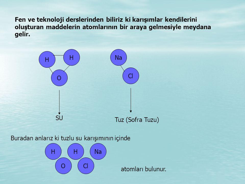 Fen ve teknoloji derslerinden biliriz ki karışımlar kendilerini oluşturan maddelerin atomlarının bir araya gelmesiyle meydana gelir.