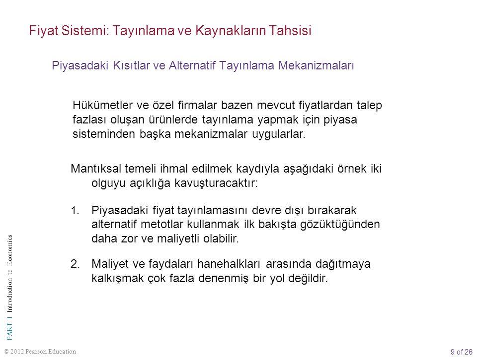 30 of 26 PART I Introduction to Economics © 2012 Pearson Education BOLUM II PARMAK PATATES NE KAZANDIRACAK.