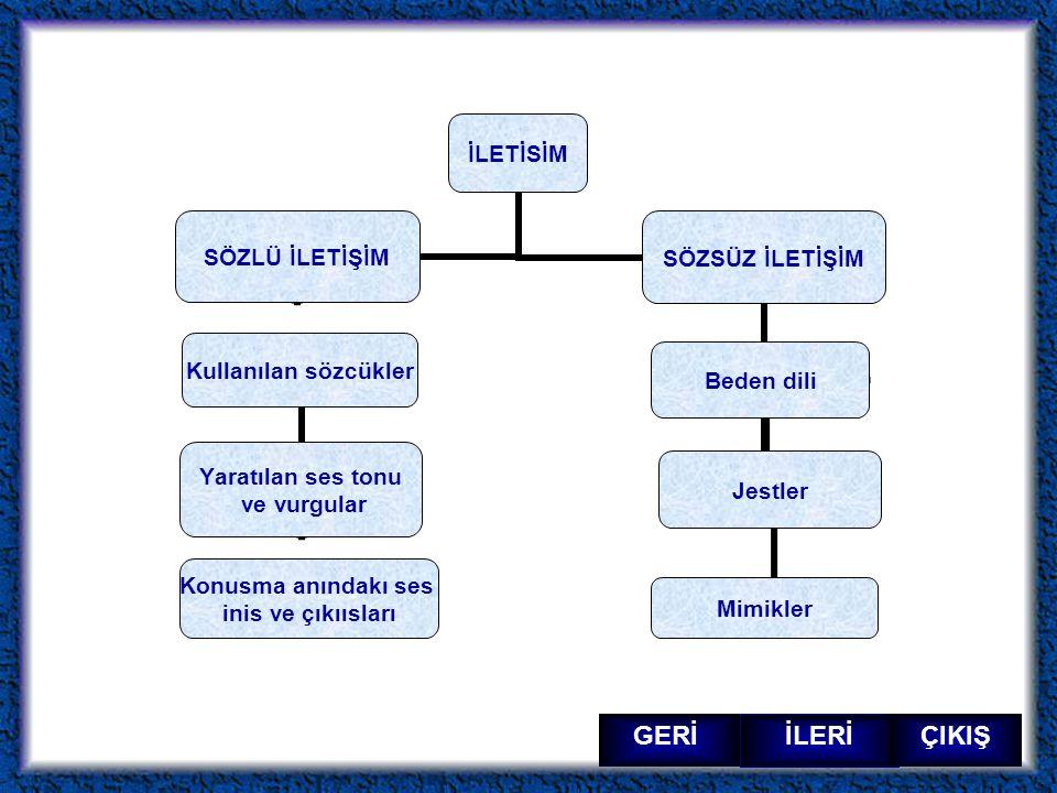 İLERİ ÇIKIŞ GERİ KAYNAKÇA www.gettyimages.com www.bedendili.com Gazi üniversitesi beden dili sunumundan yararlanılmıstır Altın Egitim aile iletişimi sunusu