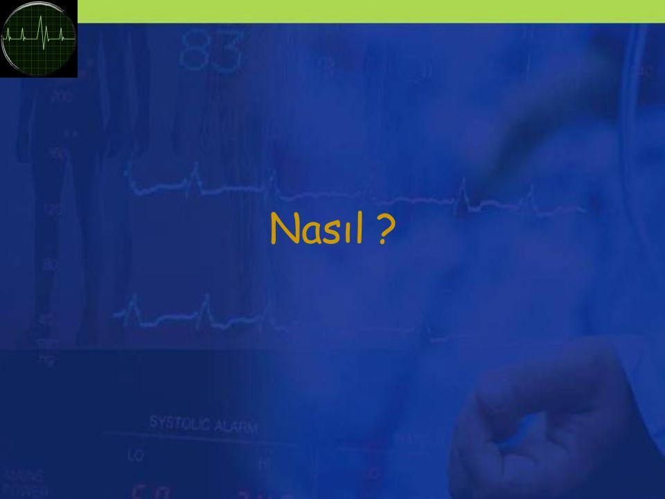 Girişimsel Olmayan Teknikler EKG –Diğer verilere referans –CO için belirleyici parametre (ritim) NIBP ( manşonlu otomatik tansiyon ölçümü ) SpO 2 ETCO 2 (kapnograf) NIS
