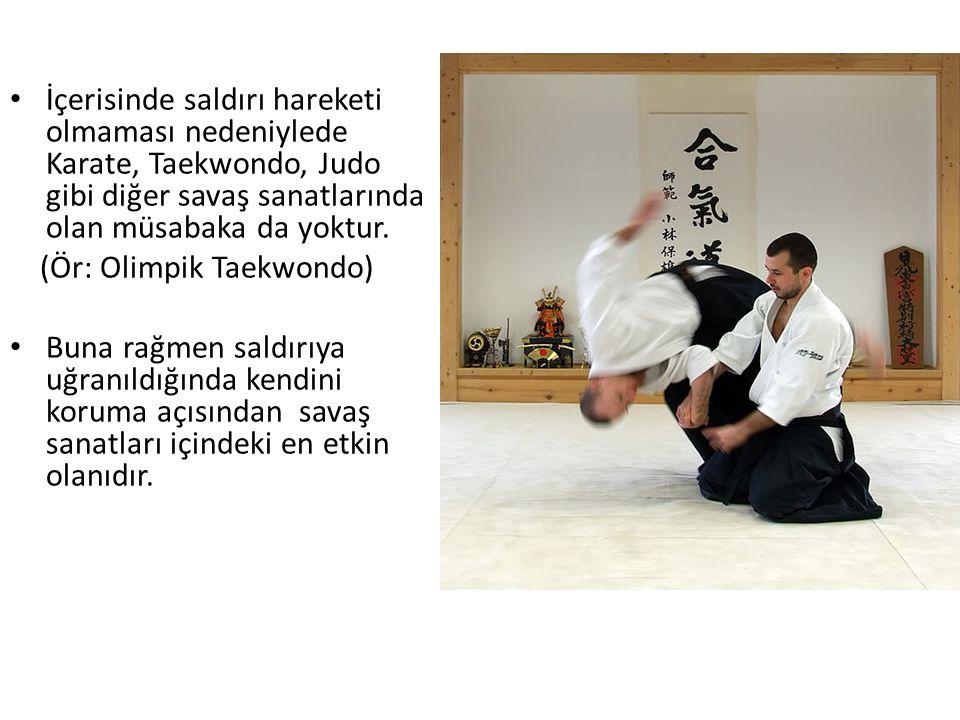 İçerisinde saldırı hareketi olmaması nedeniylede Karate, Taekwondo, Judo gibi diğer savaş sanatlarında olan müsabaka da yoktur. (Ör: Olimpik Taekwondo