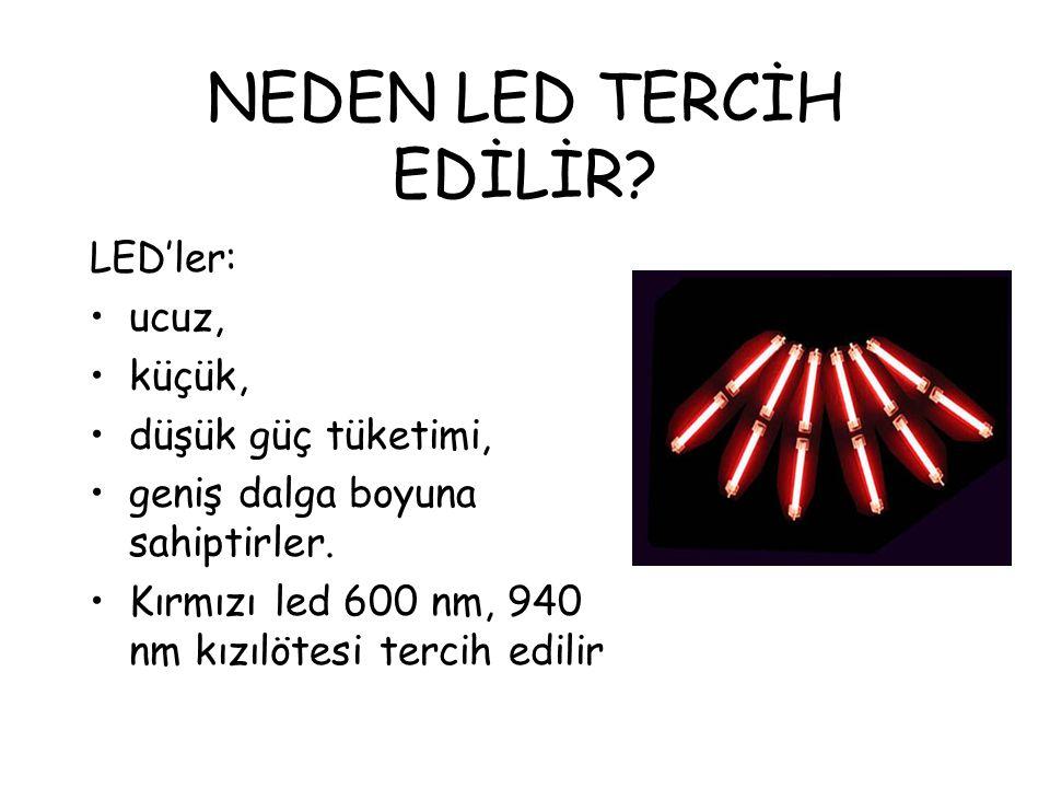 IŞIK KAYNAKLARI Akkor lambalar, LED'ler, gaz- yarıiletken diyot lazerler Bu ışık kaynakları yüksek kararlılığa sahip olmalıdır.