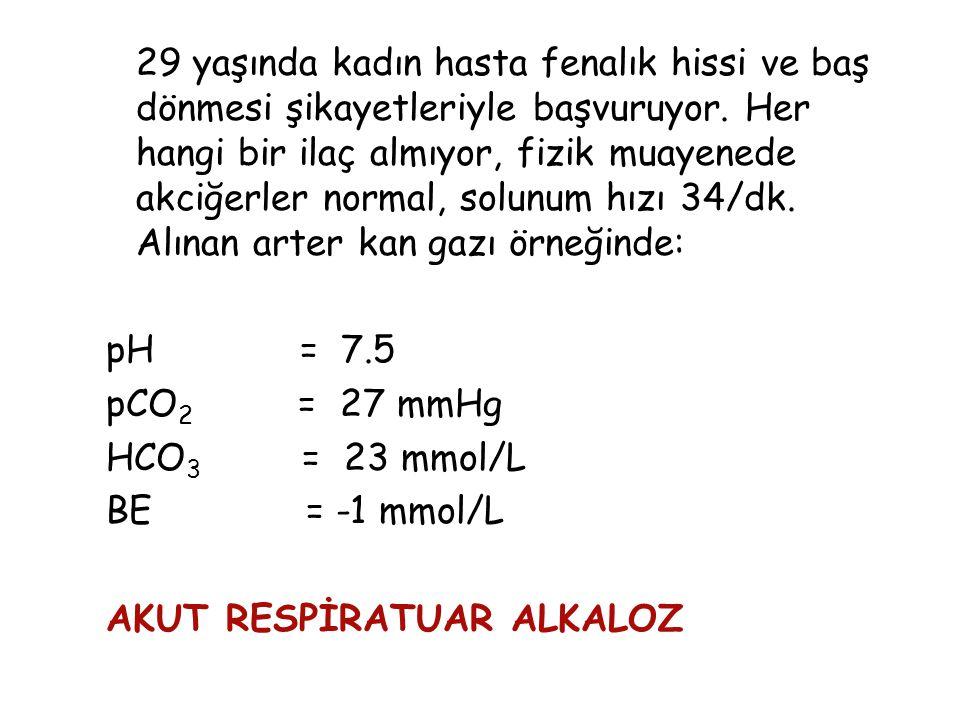 Respiratuvar alkaloz nedenleri; Res.