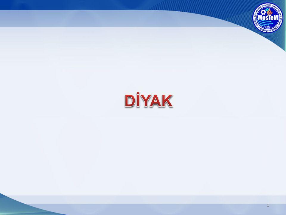 Diyak her iki yönde de aynı işi gören zener diyot gibidir.