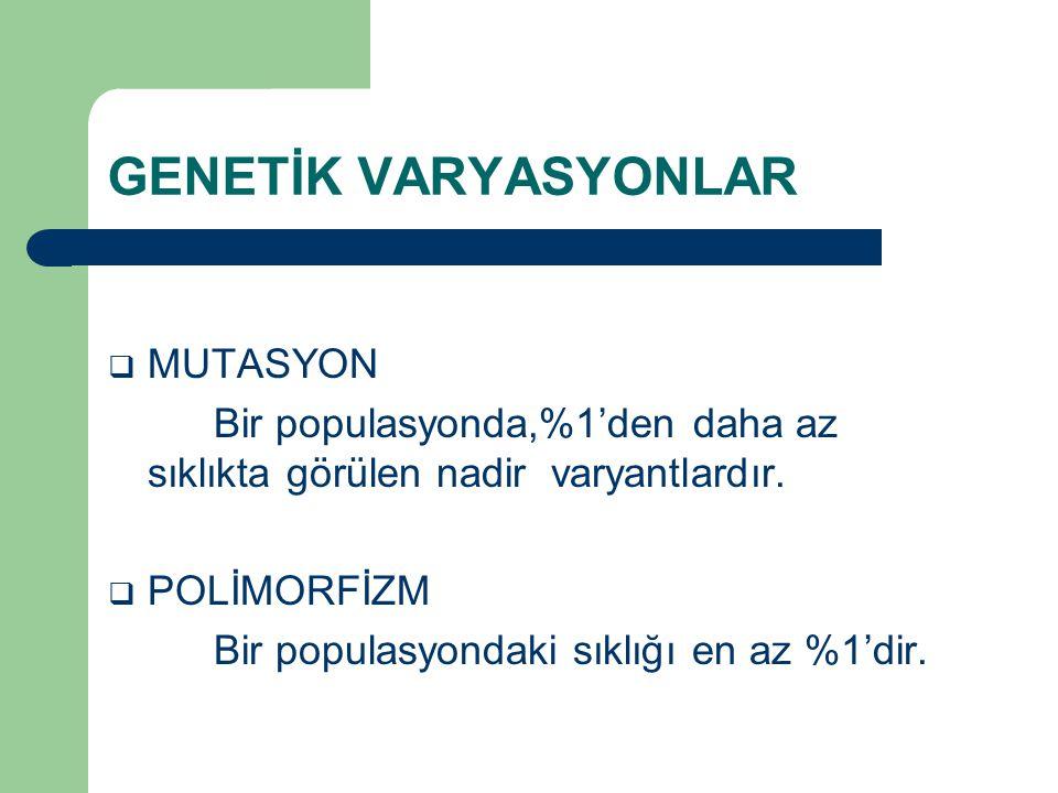 Polimorfizm Aynı türün farklı bireyleri arasında iki veya daha fazla farklı dizinin varlığıdır.