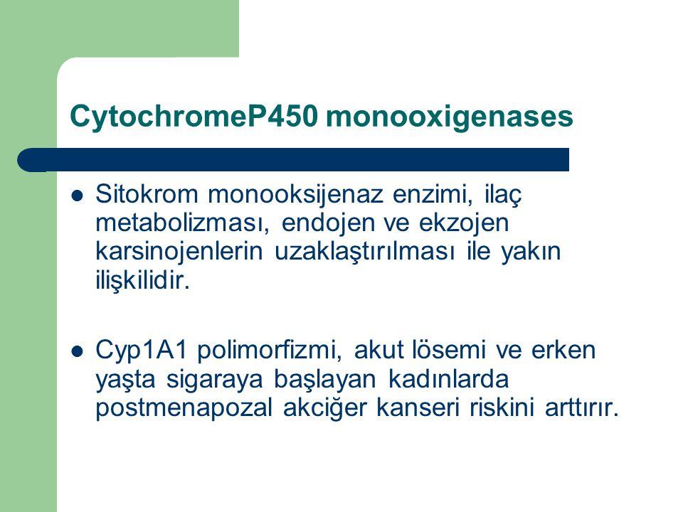 CytochromeP450 monooxigenases Sitokrom monooksijenaz enzimi, ilaç metabolizması, endojen ve ekzojen karsinojenlerin uzaklaştırılması ile yakın ilişkil