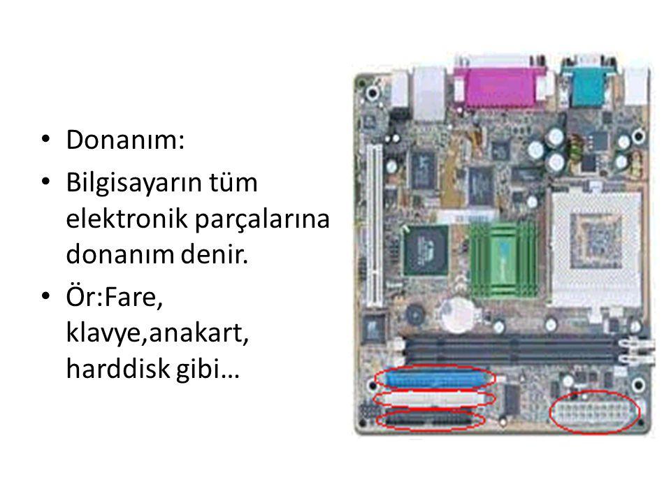 Bilgisayar donanım ve yazılım olmak üzere iki bölümden oluşur.