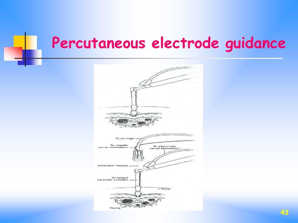 43 Percutaneous electrode guidance