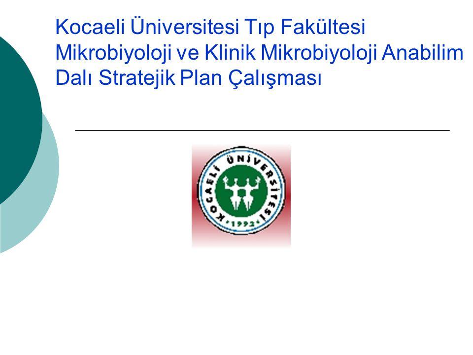 Kocaeli Üniversitesi Tıp Fakültesi Mikrobiyoloji ve Klinik Mikrobiyoloji Anabilim Dalı Stratejik Plan Çalışması